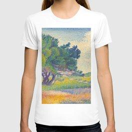 Small House at Saint Clair 1894 Henri-Edmond Cross Neo-Impressionism Pointillism Oil Painting T-shirt