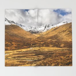 Golden Valley. Throw Blanket