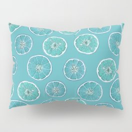 Turquois Oranges Pattern Pillow Sham