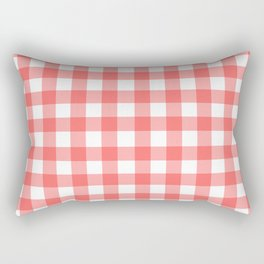 Red gingham fabric cloth, seamless pattern Rectangular Pillow