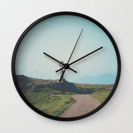 It's about the journey Celtic Cross photograph Wall Clock