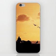 Fisherman at sunset iPhone & iPod Skin