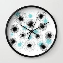 Floating Flora Wall Clock