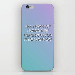 Aquman by Walk The Moon (Lyrics) iPhone Skin