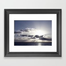 Sunset on the beach Framed Art Print