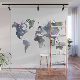 Watercolor World Wall Mural