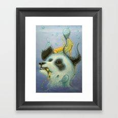 Panda Suppress Framed Art Print