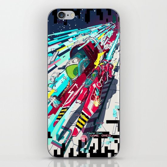 Faster than GAME OVER v2.0 +T-SHIRT DESIGN+ iPhone & iPod Skin