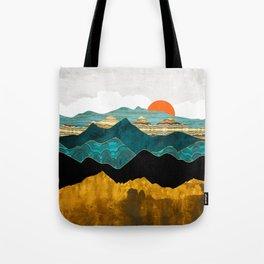 Turquoise Vista Tote Bag