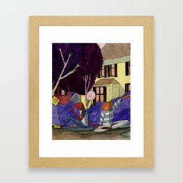 Dead End Frog Kids Framed Art Print
