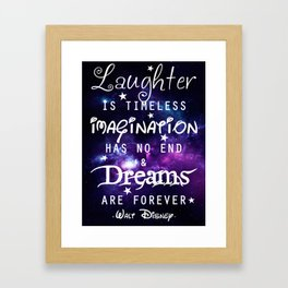 Quote Framed Art Print