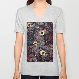 dark flowers #flower #flowers Unisex V-Neck