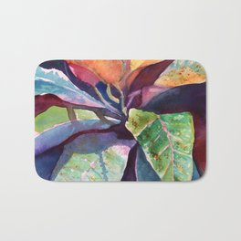 Colorful Tropical Leaves 3 Bath Mat