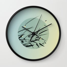 Decaying Grass Becomes Fireflies Wall Clock