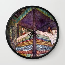 Princess and the Pea By Edmund Dulac Wall Clock