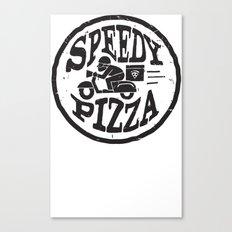 Speedy Pizza Canvas Print