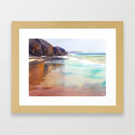 Papagayo Beach Framed Art Print