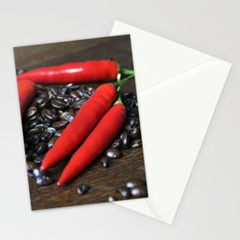 COFFEE and red CHILLI Stationery Cards