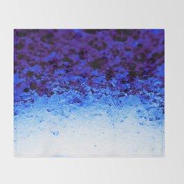 Indigo Blue Crystal Ombre Throw Blanket