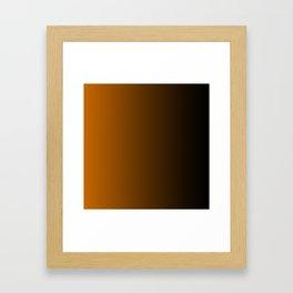 Black and Orange Gradient 050 Framed Art Print