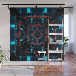 3D cube. Abstract ornament. Wall Mural