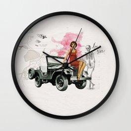 Bomshell Wall Clock