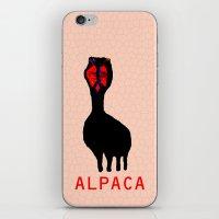 alpaca iPhone & iPod Skins featuring ALPACA by FUNCIT