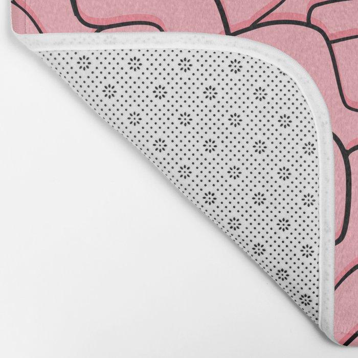 Guts or Brains - Pink Bath Mat