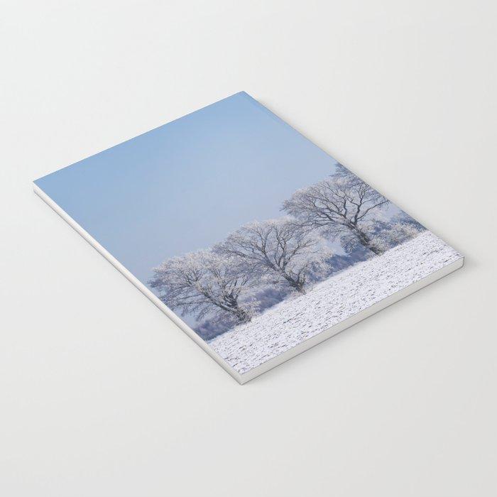 winter walk rural snow landscpape north Germany Notebook