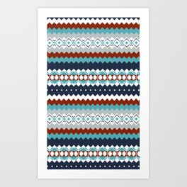 Navajo Pattern Art Print
