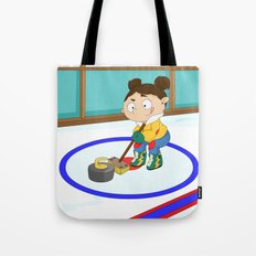 Winter Sports: Curling Tote Bag