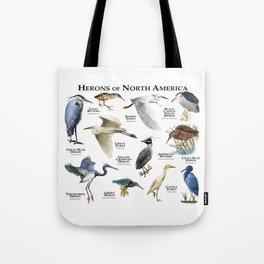 Herons of North America Tote Bag