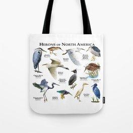 Herons of North America Tote Bag