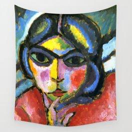 "Alexej von Jawlensky ""Pensive woman"" 1913 Wall Tapestry"