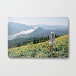 Daydreaming on Dog Mountain - Columbia River Gorge Metal Print