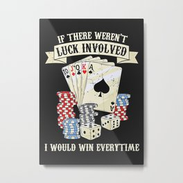 Poker Card Player Metal Print