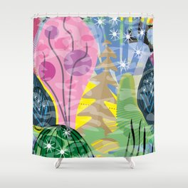 Fluttering Heart Shower Curtain