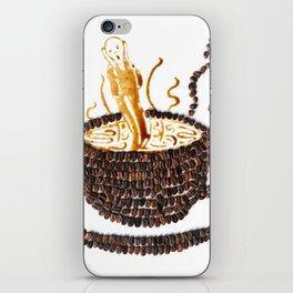 """I """"scream"""" for coffee! iPhone Skin"""