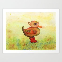 Autumn and Snozzleberryduck Art Print