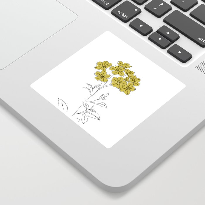Botanical floral illustration line drawing - Iona Sticker