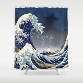 Great Wave: Kanagawa Night Shower Curtain