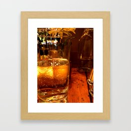 SPARKLING GOLDEN WATER Framed Art Print