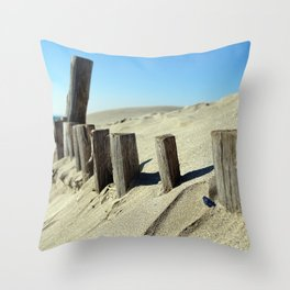 Guard beach Throw Pillow