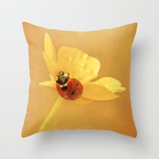 Buttercup Lady Throw Pillow