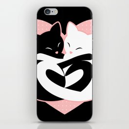 Balanced Feline Love iPhone Skin