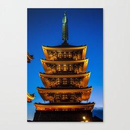 Asakusa Tower Canvas Print