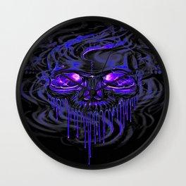 Purple Nurpel Skeletons Wall Clock