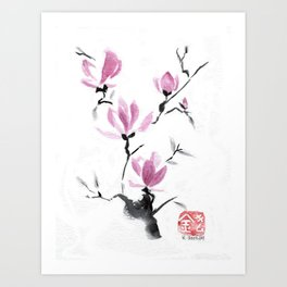 Magnolias in Stasis Art Print