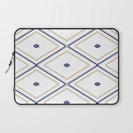 Navajo Pattern - Tan / Navy / White Laptop Sleeve