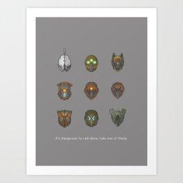 It's Dangerous to Raid Alone… Art Print